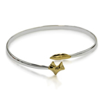 Fox Head Gold & Silver Bangle