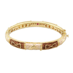 Brown Equestrian Gold Bangle