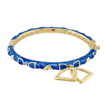 Equestrian Bangle - Blue