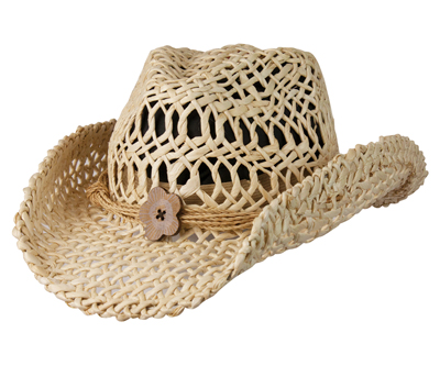 Womens Natural Maize Western Fashion Hat