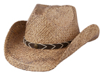 Smokey Ridge Raffia Western Hat