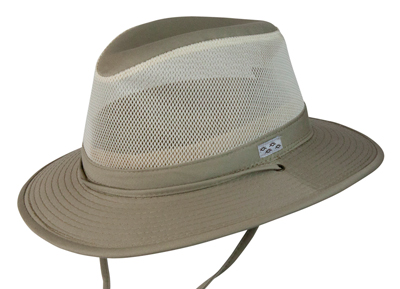 Pueblo Mens Fedora Mesh Cotton Outdoor Hat