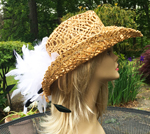 Wheat Breezy Cowgirl w White Tickle Corsage