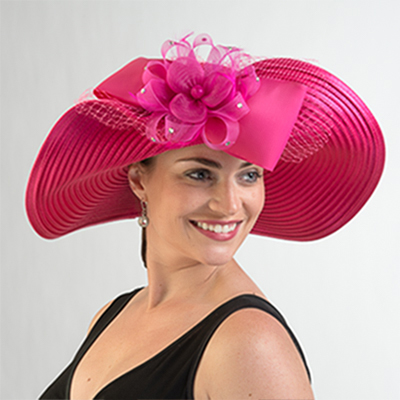Satin Off Face Swinger Hat