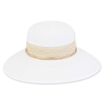 Backless Paper Braid Hat White