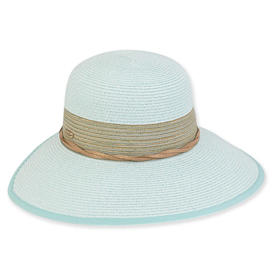 Backless Paper Braid Hat Mint