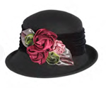 Silk Bouquet Felt Hat