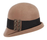 Fold Edge Cloche with Belt