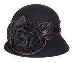 Satin Rose Cloche