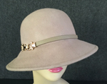 Camel Cloche w/Gold Buckle Accent